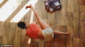 Упражнение на отводящие мышцы бедер