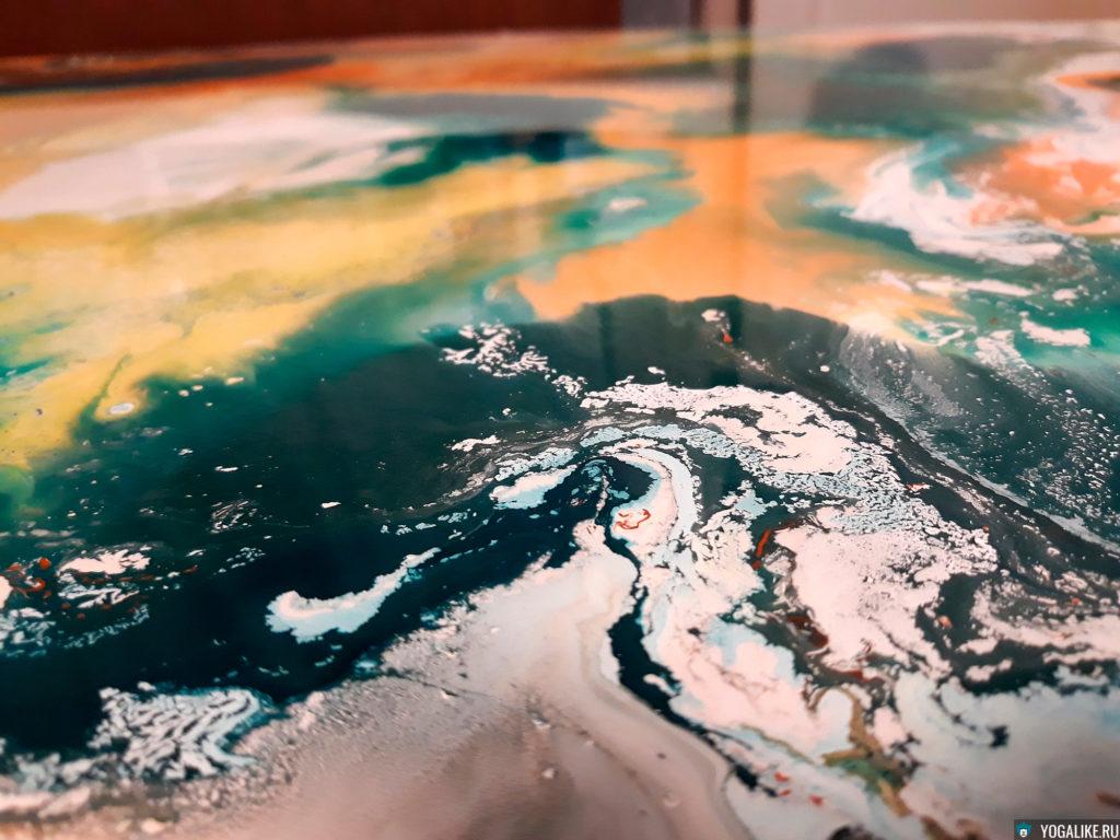 Жидкий акрил, сохнущая картина
