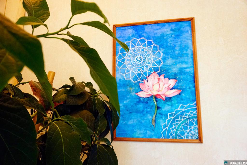 Цветок лотоса, акварель