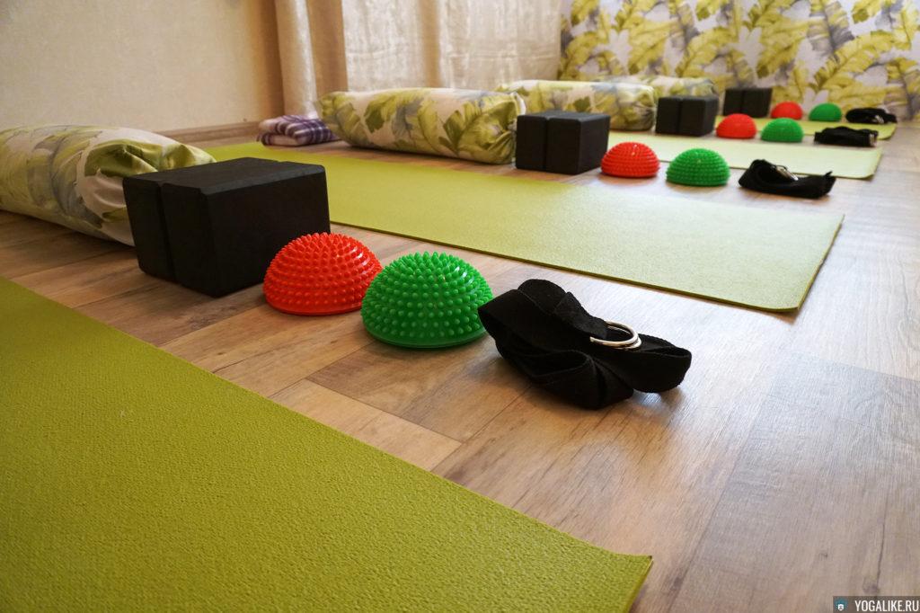 Оборудование зала для йоги в Павшинской пойме